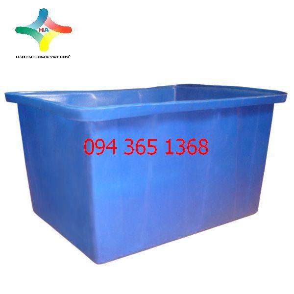 Thùng nhựa chữ nhật (Thùng nhựa nuôi cá) 750L