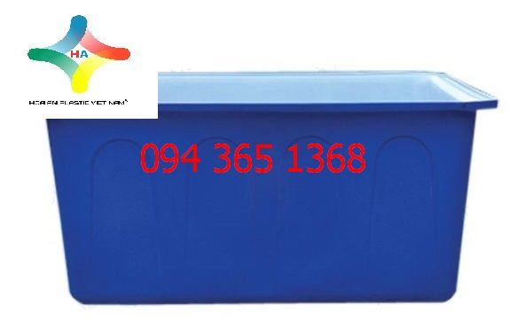 Thùng nhựa chữ nhật dung tích 500L