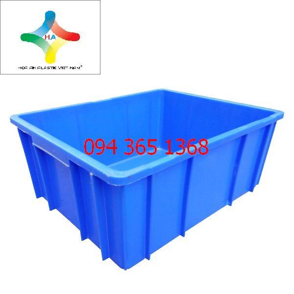 Thùng nhựa đặc (sóng nhựa bít) B10