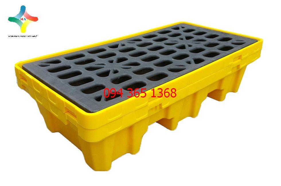Pallet nhựa chống tràn dầu PLCTD- 1368- 1LK