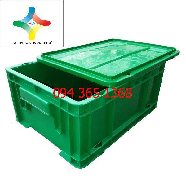 Thùng nhựa đặc (sóng nhựa bít) DCS502