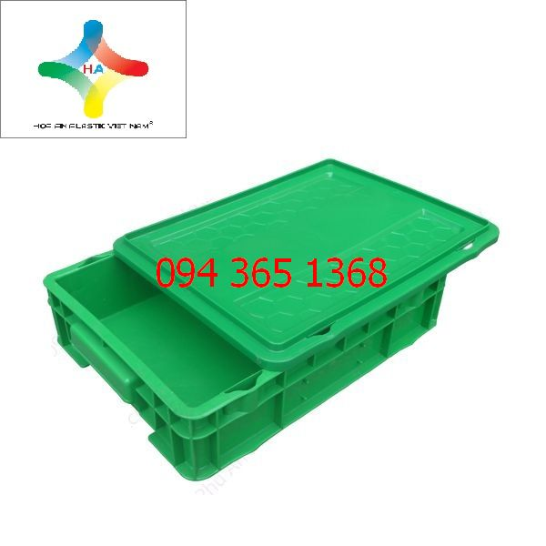 Thùng nhựa đặc (sóng nhựa bít) DCS201