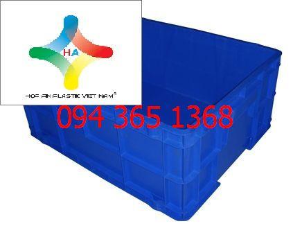 Thùng nhựa đặc (sóng nhựa bít) DCS102