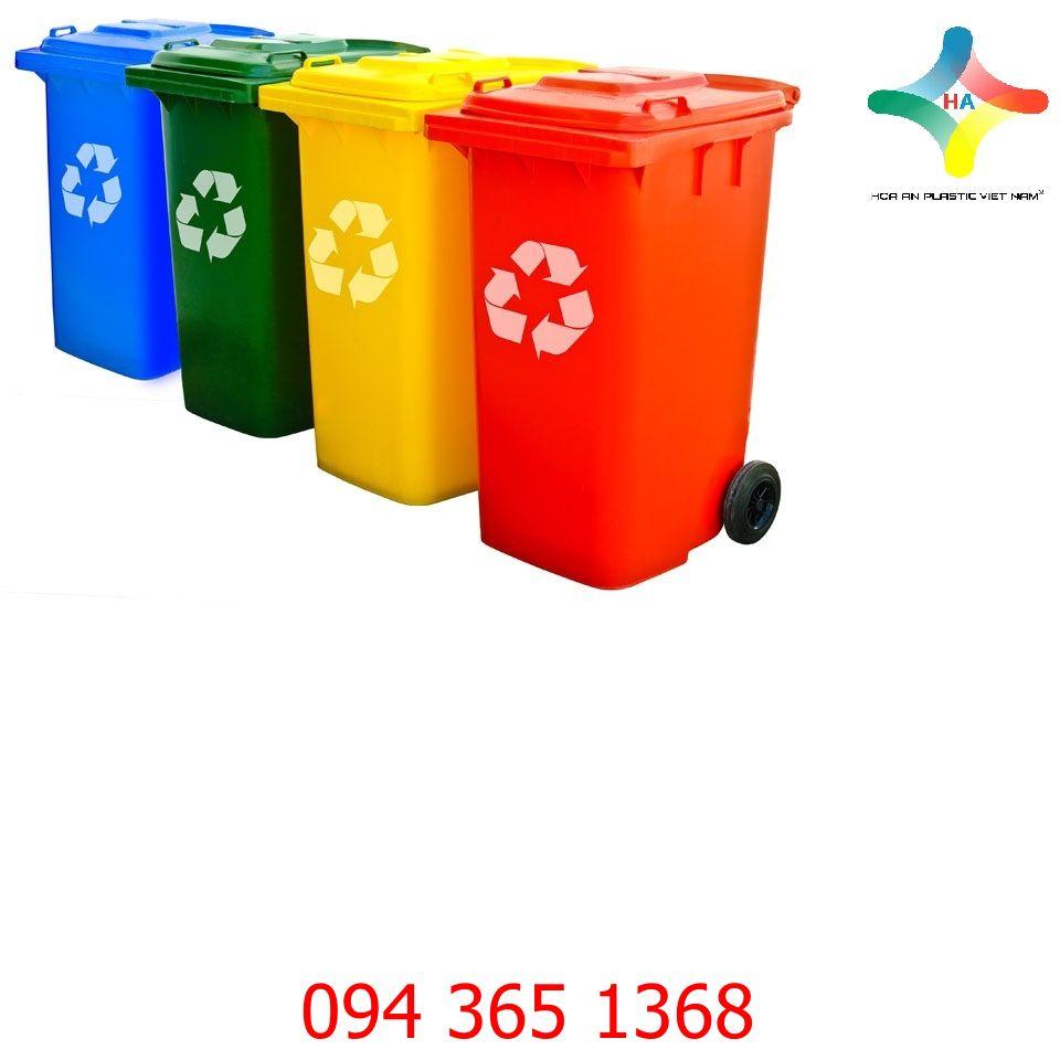 Thùng rác nhựa 160 L