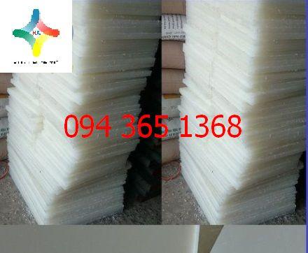 Thớt nhựa PP trắng 400 x 300 x 20 mm