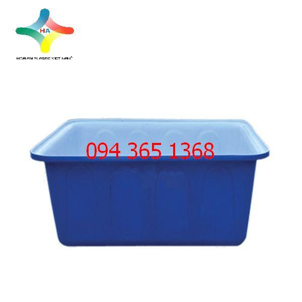 Thùng nhựa chữ nhật (Thùng nhựa nuôi cá) 300L