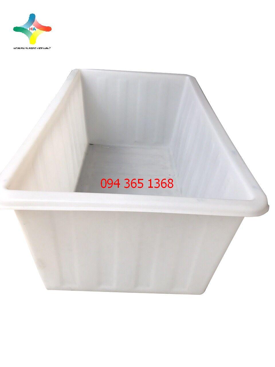 Thùng nhựa chữ nhật dung tích 1000L