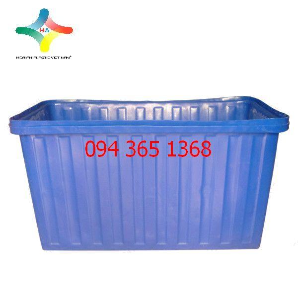 Thùng nhựa chữ nhật (Thùng nhựa nuôi cá) 500L