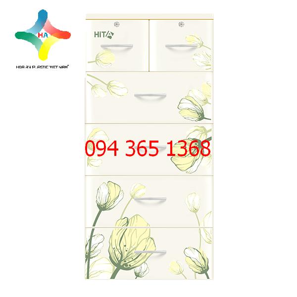 Tủ nhựa HITA họa tiết hoa tuylip
