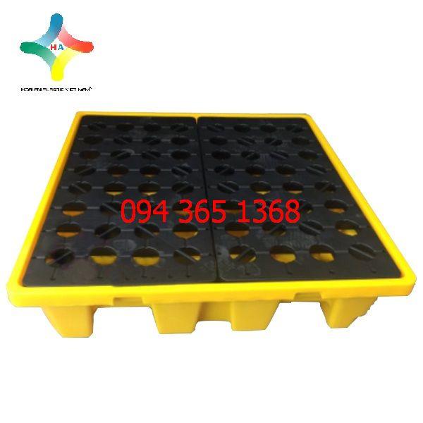 Pallet nhựa chống tràn dầu PLCTD- 1313- 1LK