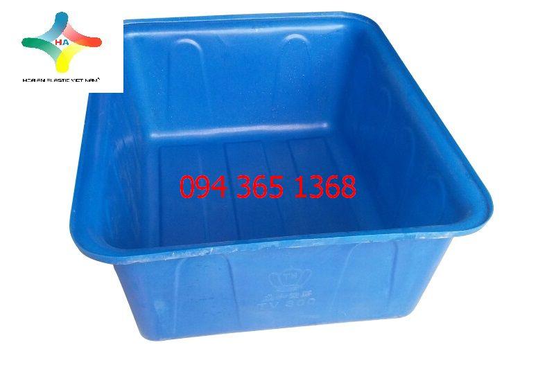 Thùng nhựa chữ nhật (Thùng nhựa nuôi cá) 30L