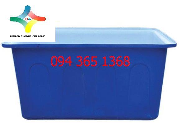 Thùng nhựa chữ nhật dung tích 750L