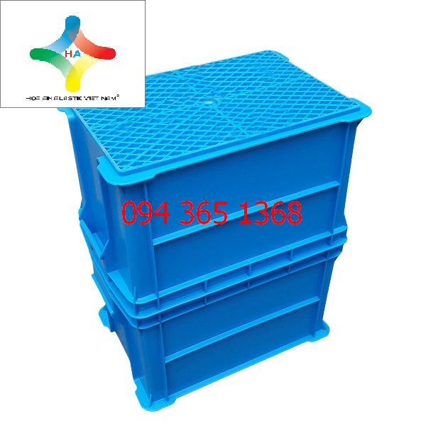 Thùng nhựa đặc (sóng nhựa bít) B6